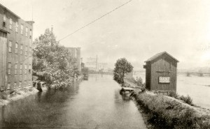 Wolverine Chair and Furniture Company (left) where the first use of hydroelectric power in the United States