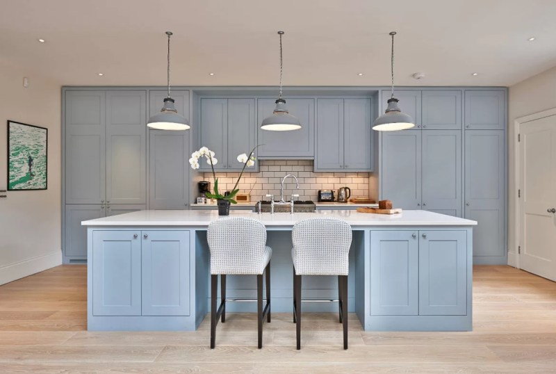 Large Of Blue Kitchen Cabinets