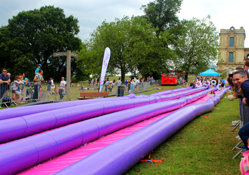 water slide at Alexandra Park in London