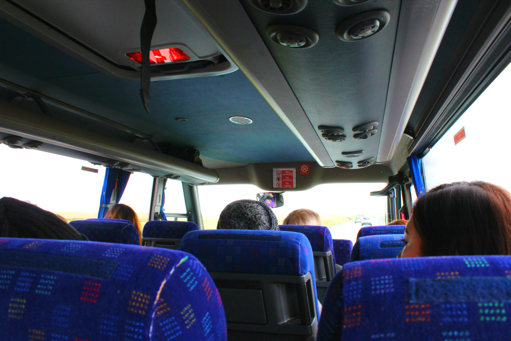 Bus tour in Iceland