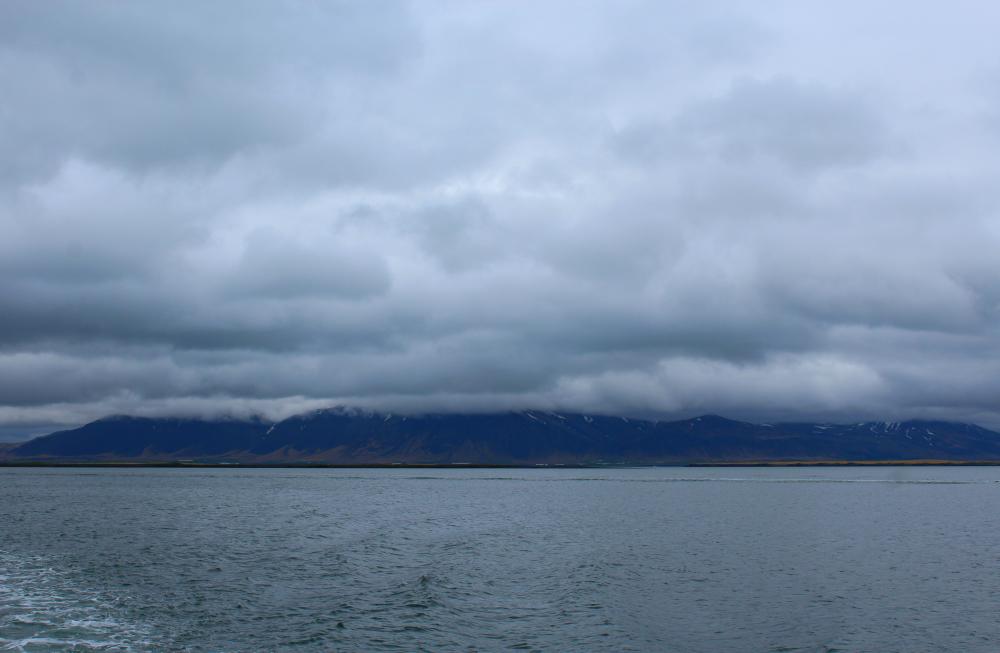 view over Reykjavik coast, Iceland
