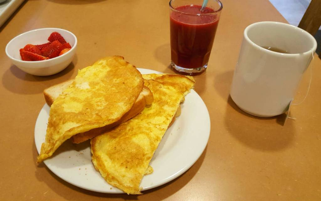 breakfast at the Hump Day Hostel in Quito