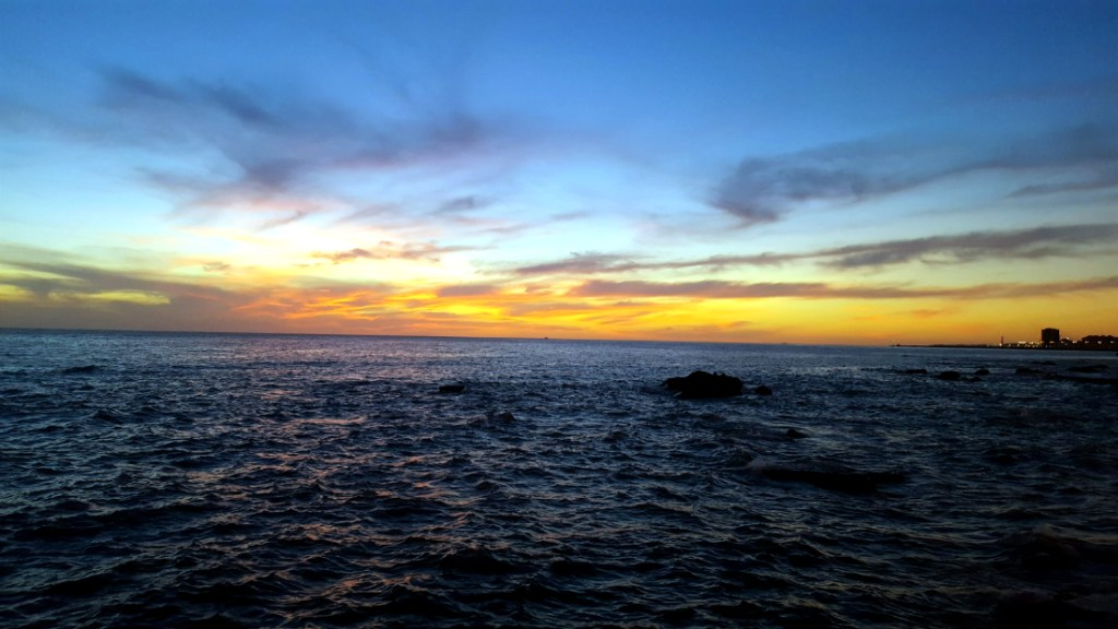 Montevideo sunset at la Rambla