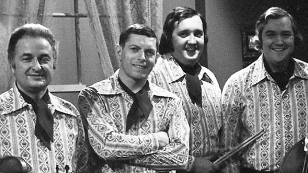 Wally Cobb (far left) with members of the All Around The Circle backing band.
