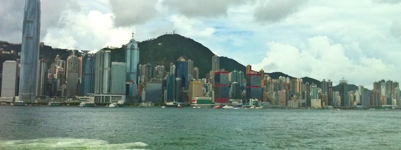 Hong Kong from the Macau Ferry