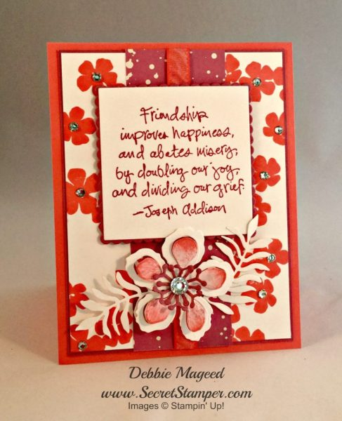 Bold Blossoms, Friendship Flowers, Botanical Builders, Stampin Up