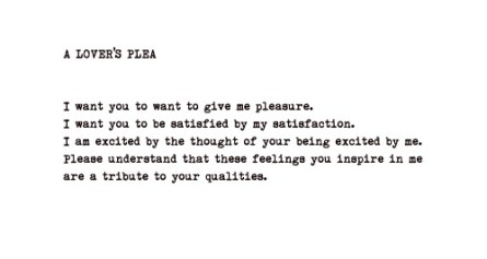 a lover's plea