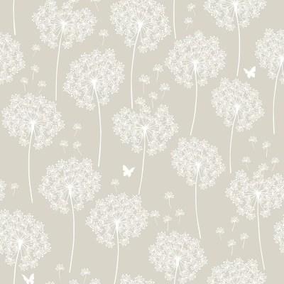 WallPops! Dandelion Taupe Peel And Stick Wallpaper & Reviews | Wayfair