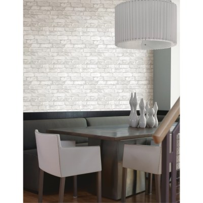 Brewster Home Fashions Oxford Brickwork Exposed 33' x 20.5