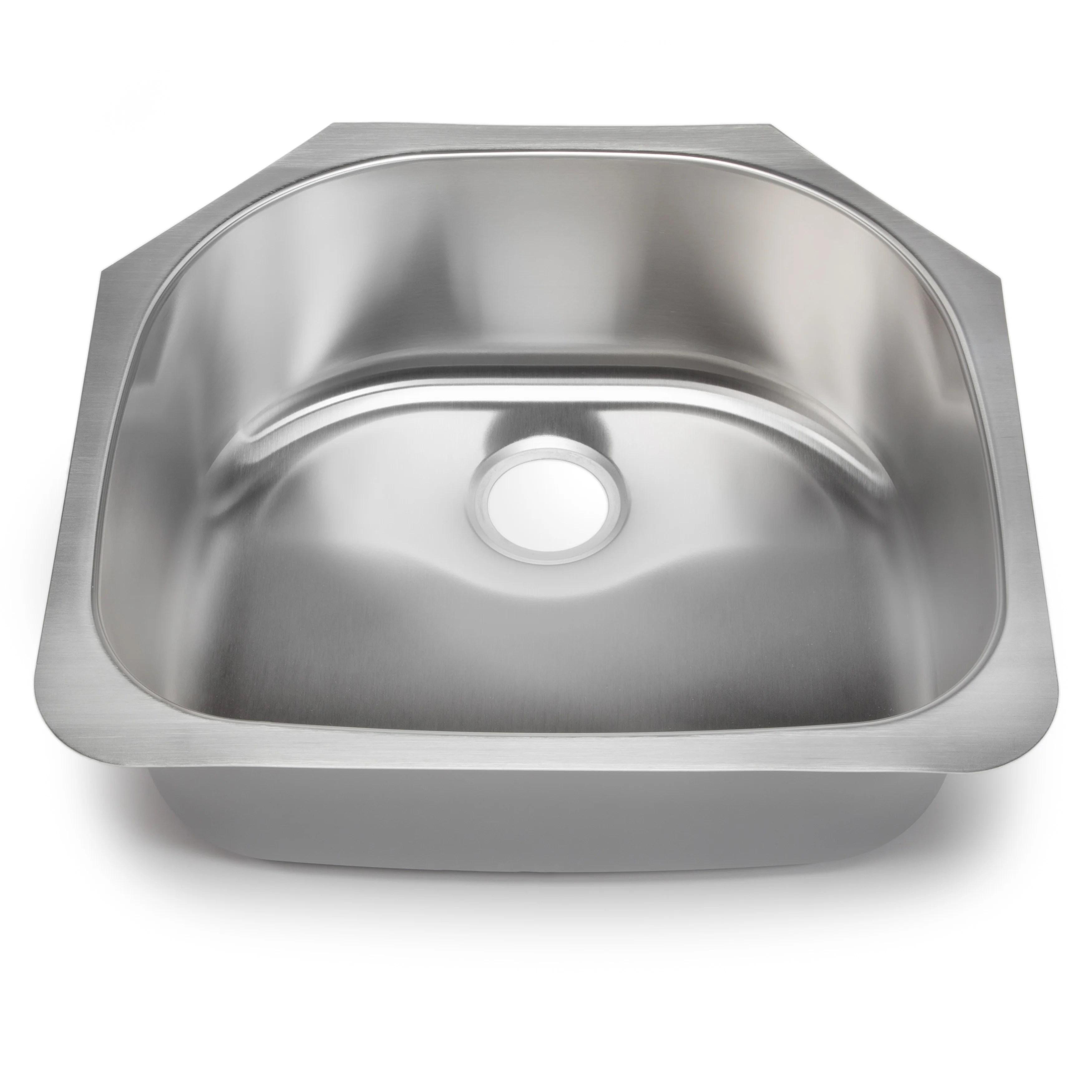 Hahn Classic Chef Series 23.38 x 21 70 30 Single Bowl Kitchen Sink SS038
