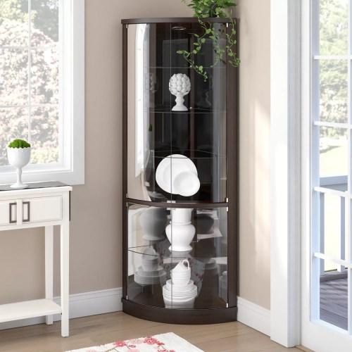 Medium Of Corner Curio Cabinet