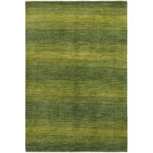 OneofaKind Didcot HandKnotted Wool Hunter Green Area Rug 5u00276