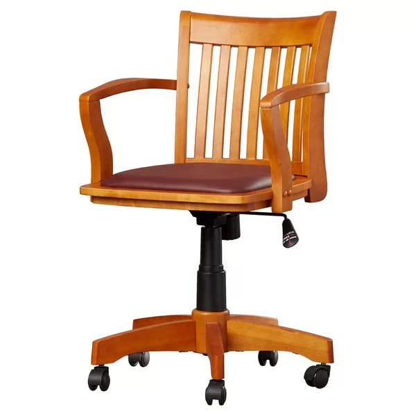 Wooden Office Chairs For Sale Wayfair5