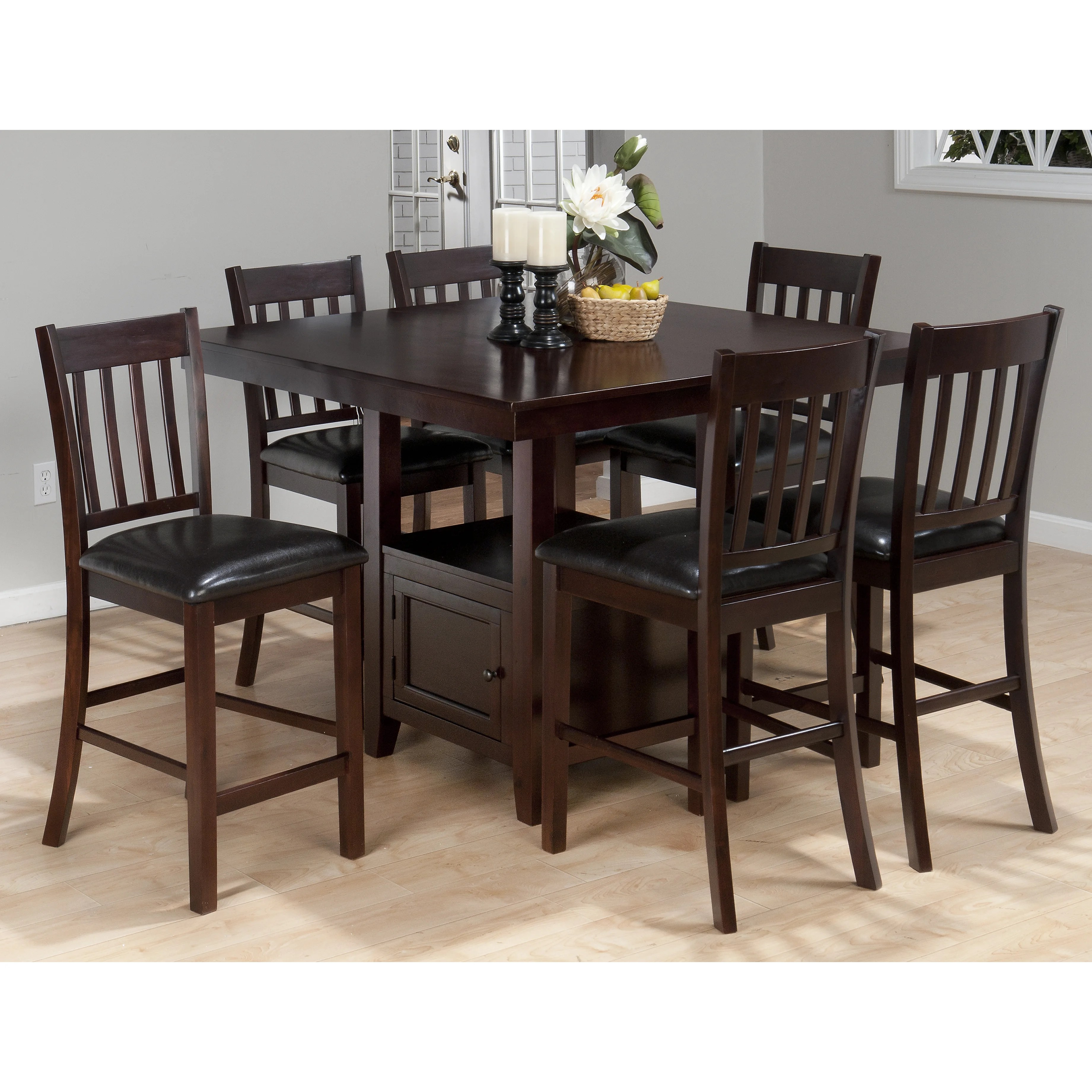 Kitchen and Dining Tables l c O~Pedestal O~Counter+ 5BPO 22 5BD 22+H 5BPC 5D counter height kitchen tables QUICK VIEW Oakmeadow Counter Height Dining Table