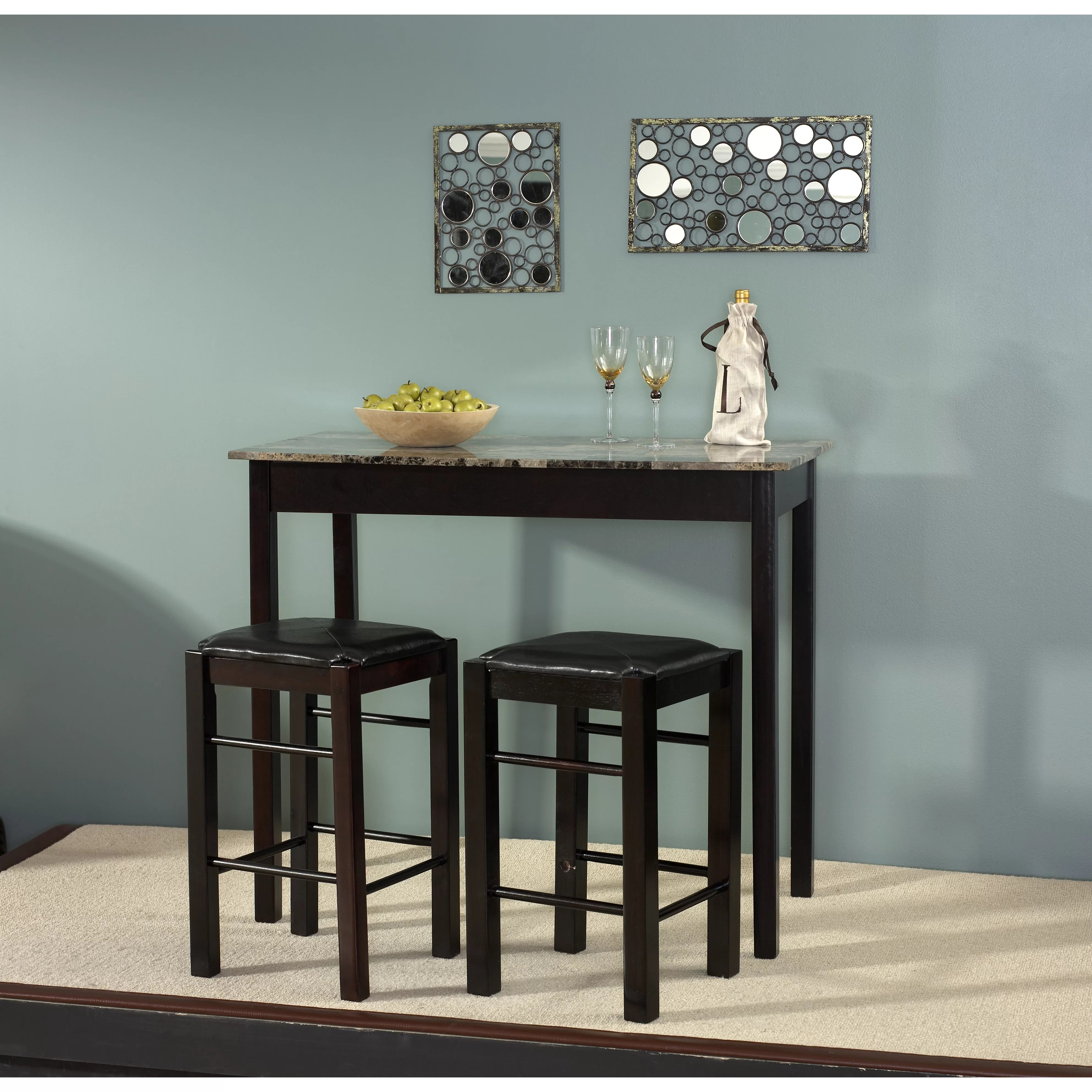 3 piece kitchen dining room sets c a~ two seat kitchen table Prosser 3 Piece Counter Height Dining Set