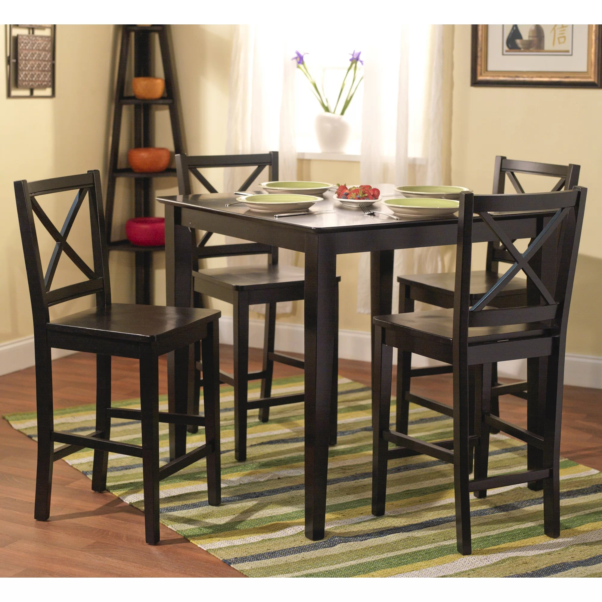 counter height dining sets c counter height kitchen tables Worthington 5 Piece Counter Height Dining Set