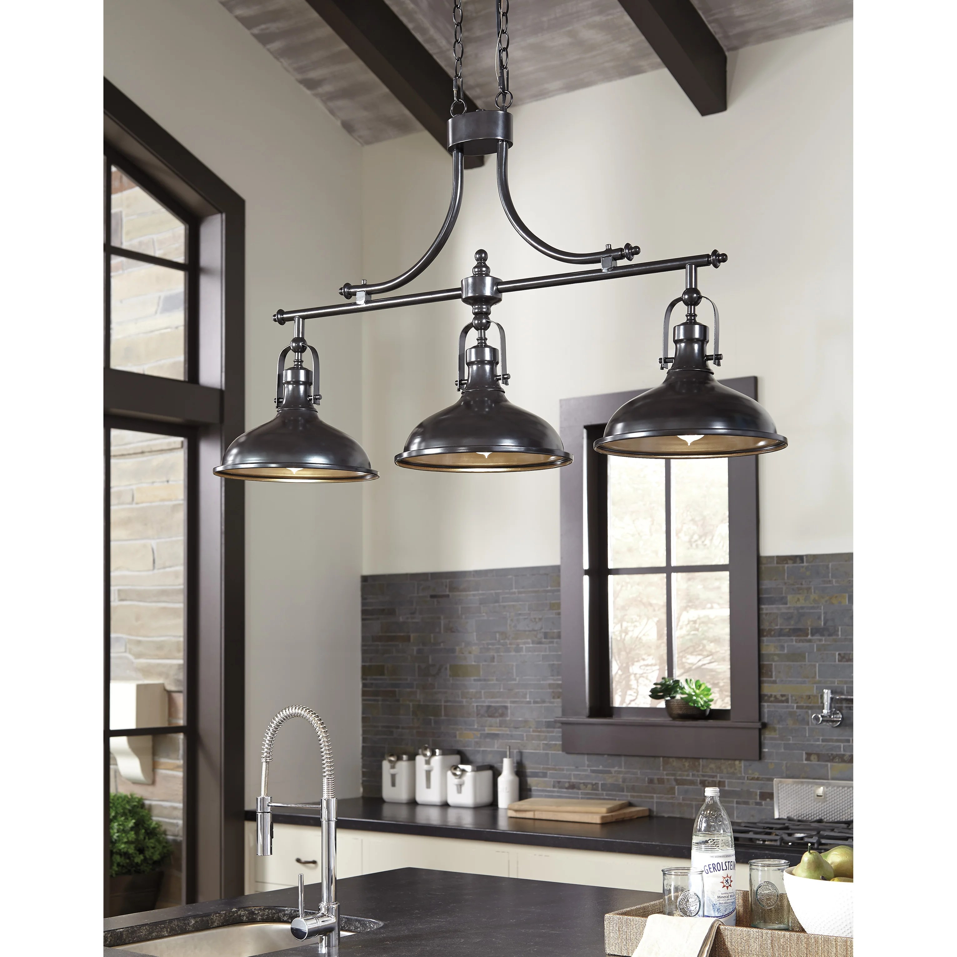 island lights c lighting for kitchen island Strauss 3 Light Kitchen Island Pendant