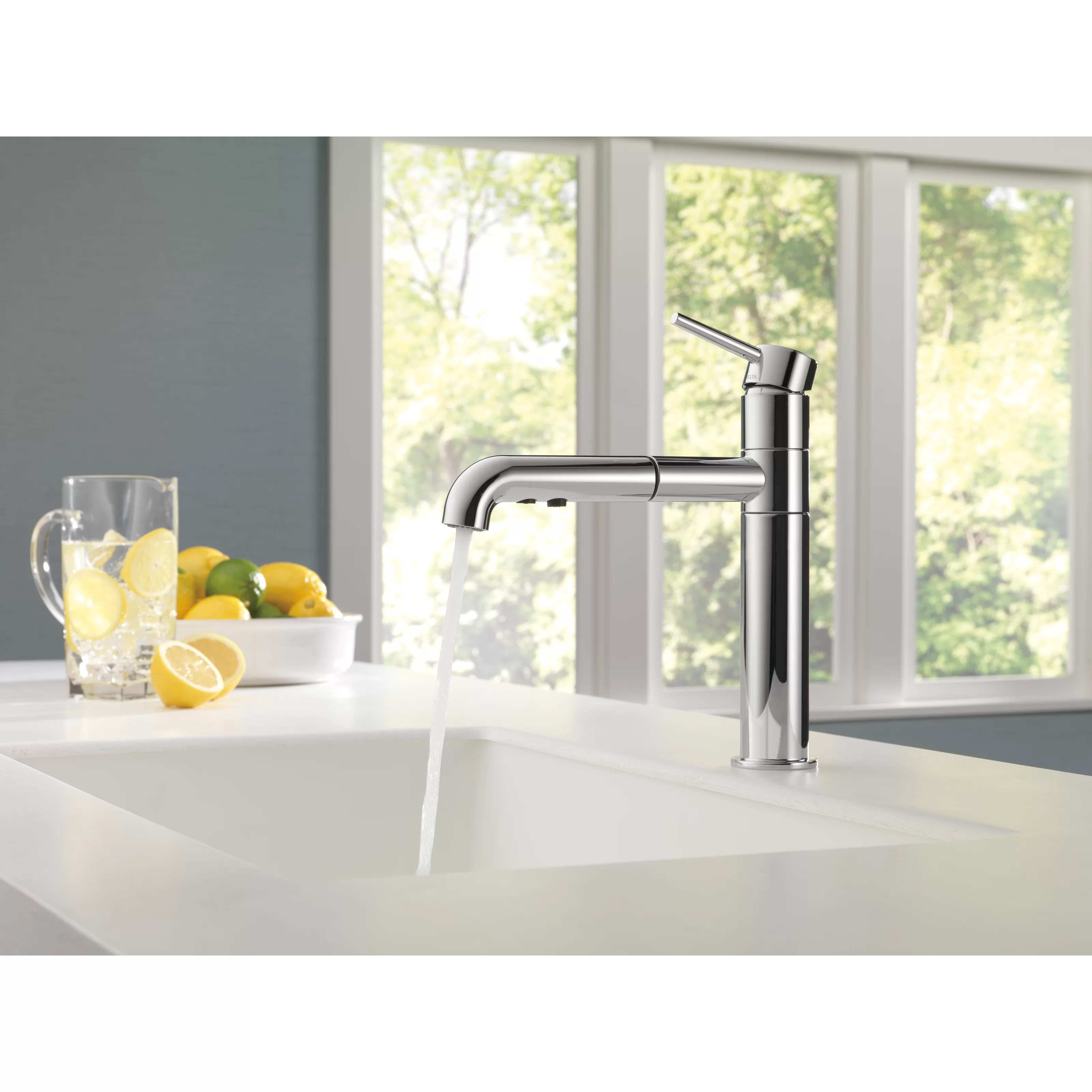 Delta Trinsic C2 AE Kitchen Single Handle Pull Out Standard Kitchen Faucet DLT delta trinsic kitchen faucet Delta Trinsic reg Kitchen Single Handle Pull Out Standard Kitchen Faucet