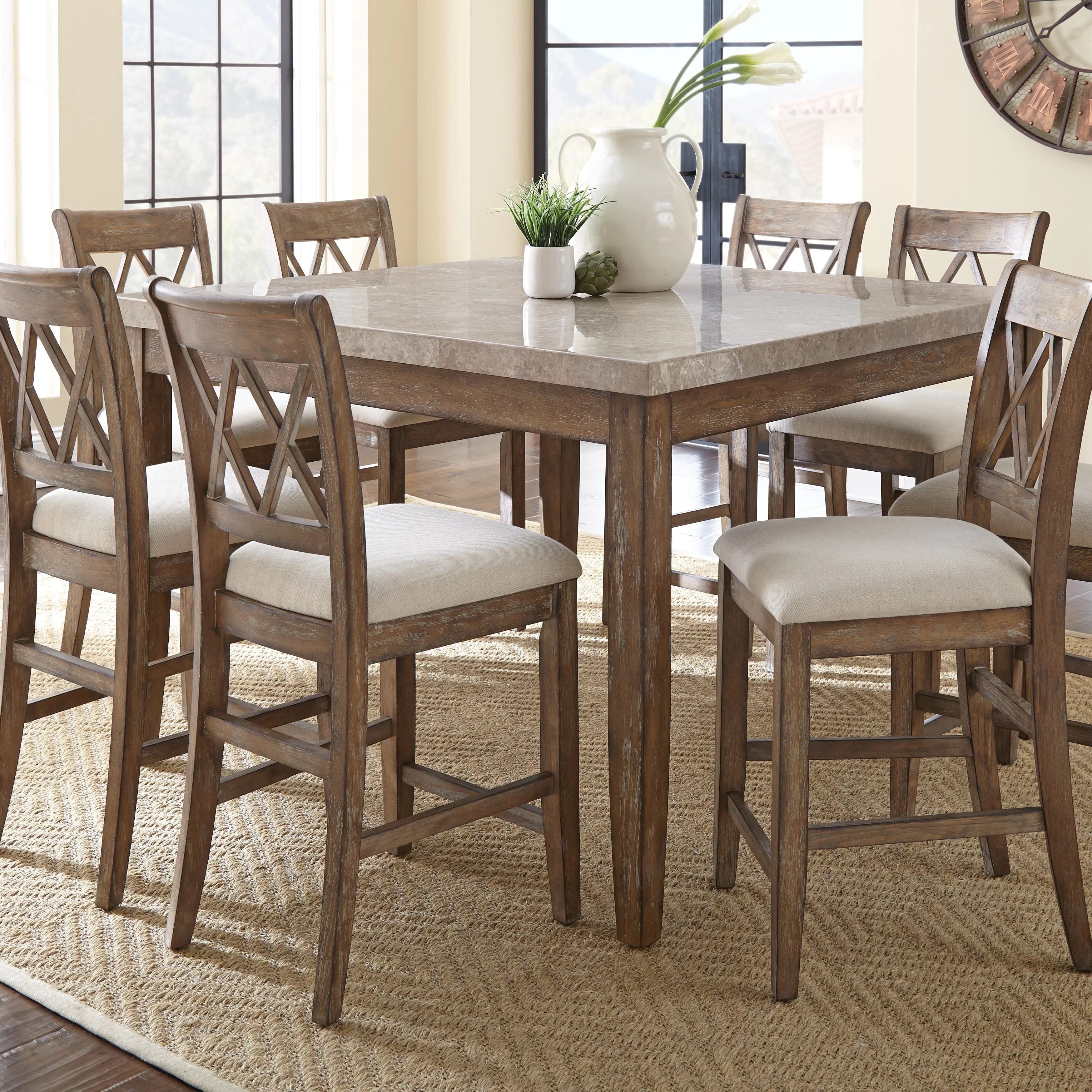 9 piece kitchen dining room sets c a~ counter height kitchen tables Lewisville 9 Piece Counter Height Dining Set