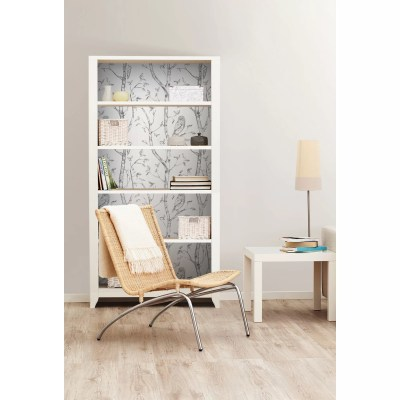 WallPops! Gray Woods Peel And Stick Wallpaper & Reviews | Wayfair