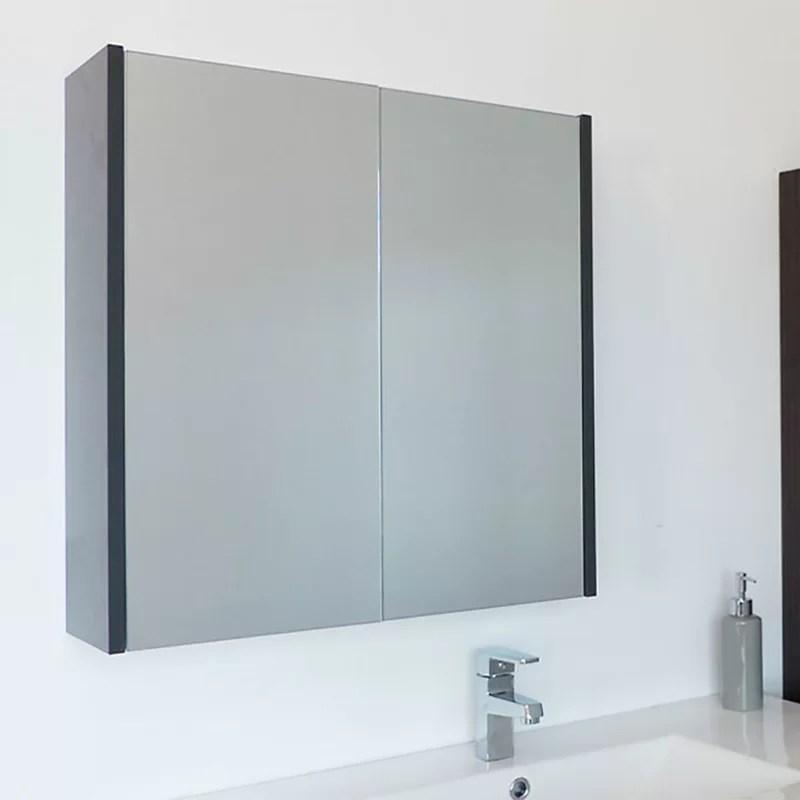 Caelum Modern Bathroom Mirror 24 Surface Mount Medicine Cabinet With Mirror  I60
