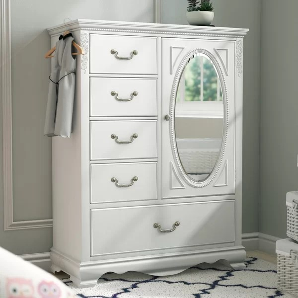 White Armoire With Drawers14