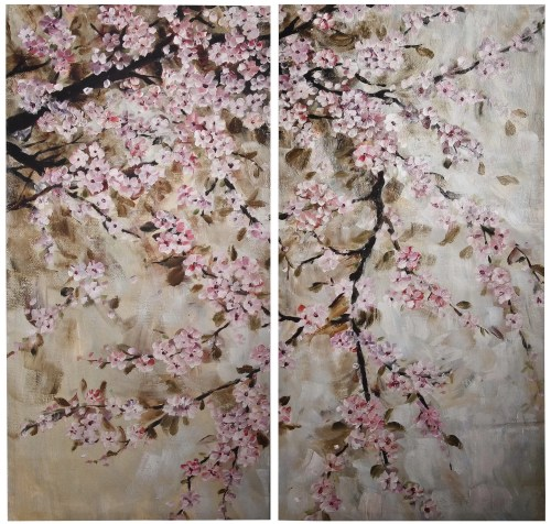 Medium Of Cherry Blossom Painting