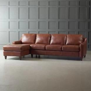 Save Tan Leather Sectional Wayfair32