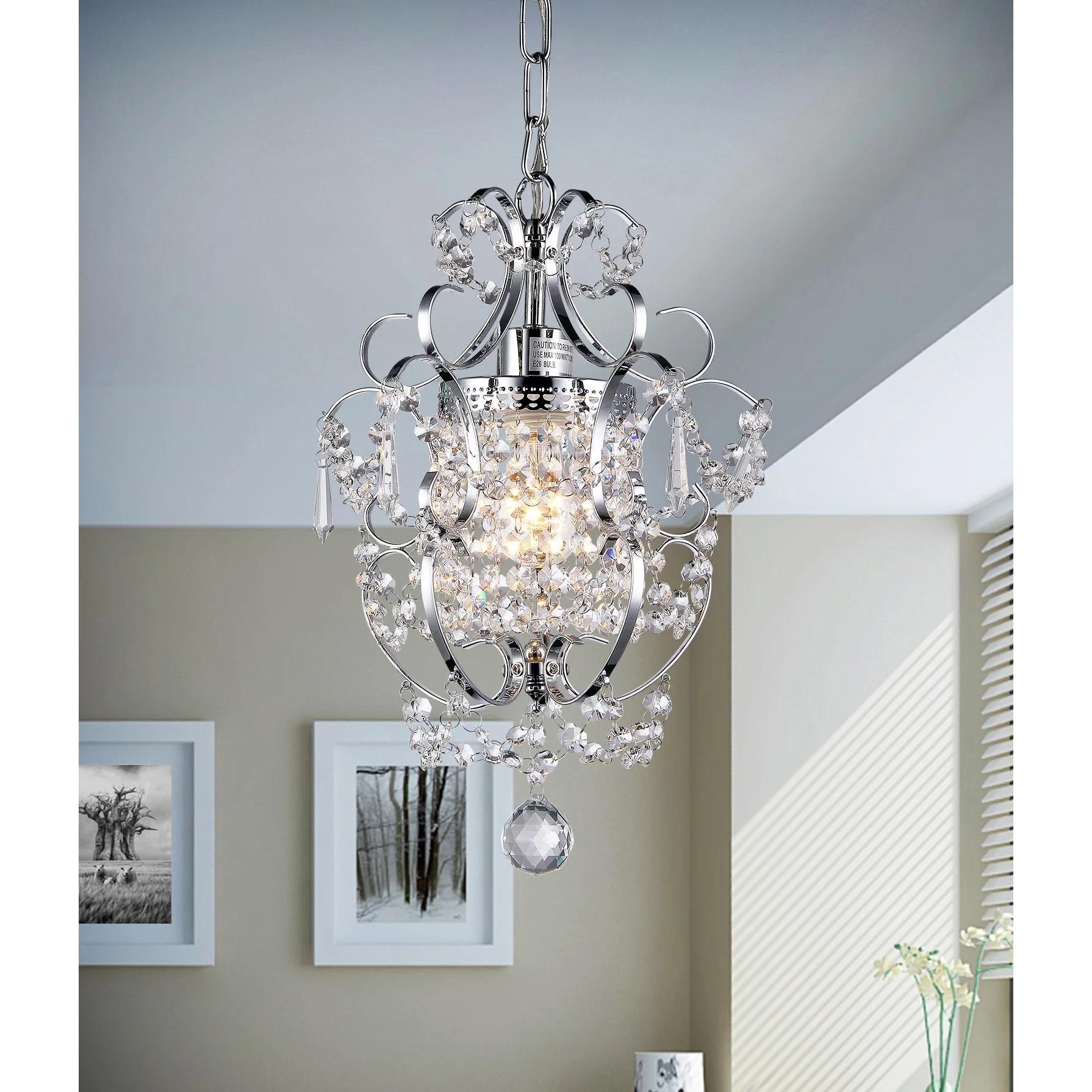 chandeliers c kitchen chandelier lighting Renee 1 Light Crystal Chandelier