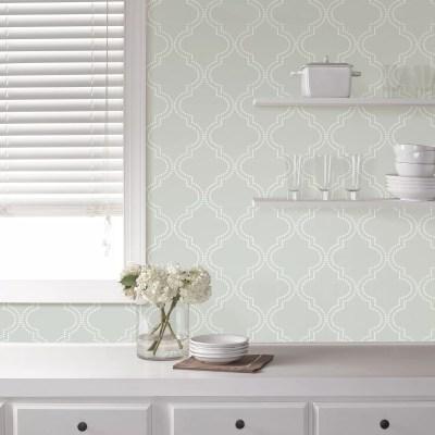 WallPops! Grey Quatrefoil Peel And Stick Wallpaper & Reviews | Wayfair