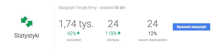 Statystyki Google Maps