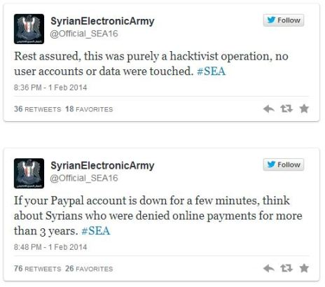 Syrian Electronic Army 3 Tweet PayPal