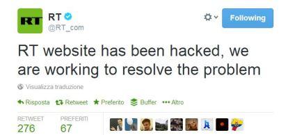 Russia Today hacked tweet