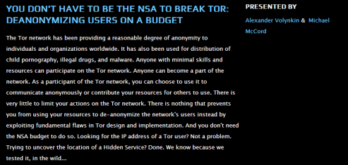 Tor Network Presentation Black hat