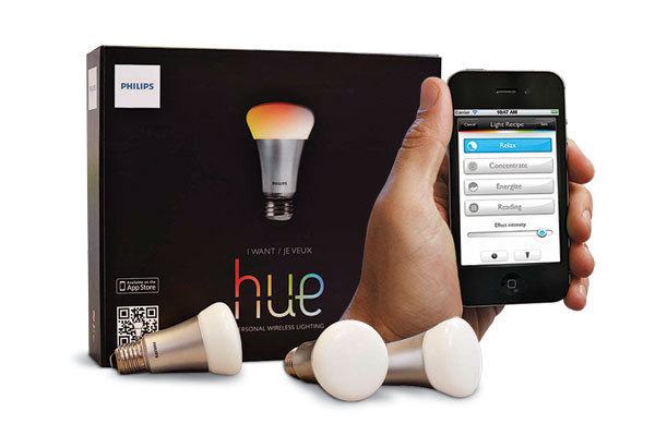 Philips Hue connected lightbulbs