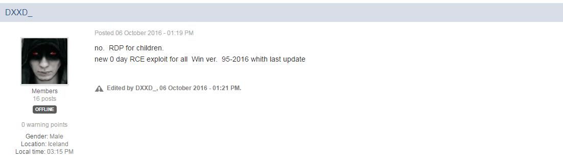 dxxd ransomware developer-no-rdp