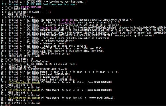 Linux/IRCTelnet malware -3