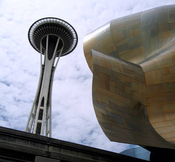 Seattle space Needle with Sci Fi Museum