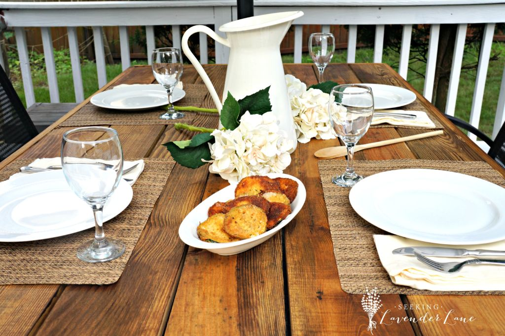 up close table setting