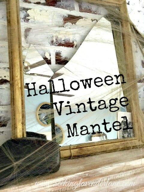 Broken Mirror Halloween Decor Vintage Decor