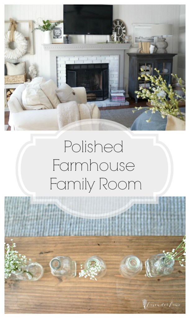 Polished Farmhouse Family Room
