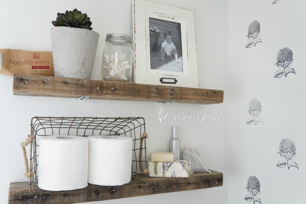 Pallet wood floating Shelves 8