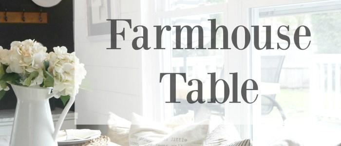 white distressed farmhouse table