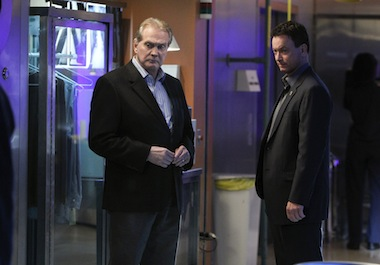 Last year Mayors guest starred in an episode of CSI:New York. Image: CBS Broadcasting Inc.