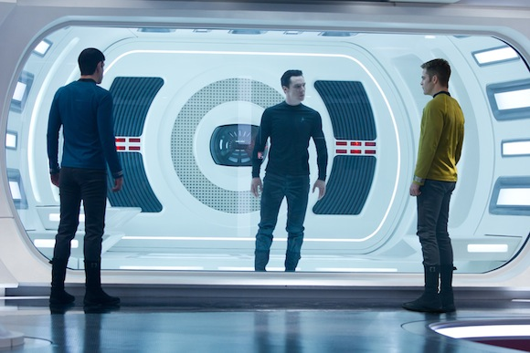 Zachary Quinto is Spock, Benedict Cumberbatch is John Harrison and Chris Pine is Kirk in STAR TREK INTO DARKNESS from Paramount Pictures and Skydance Productions. Photo Credit: Zade Rosenthal © 2012 Paramount Pictures. All Rights Reserved.