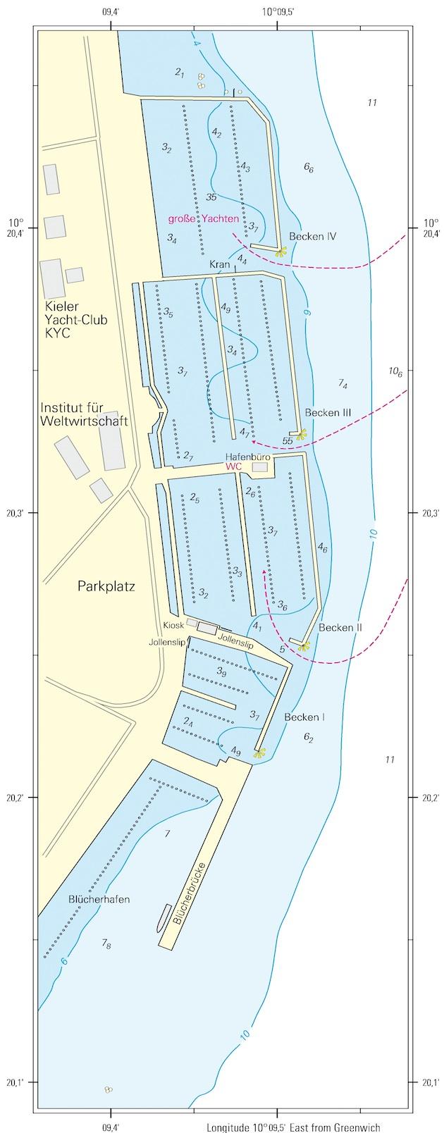 Die betroffenen Häfen ©sporthafen kiel.de