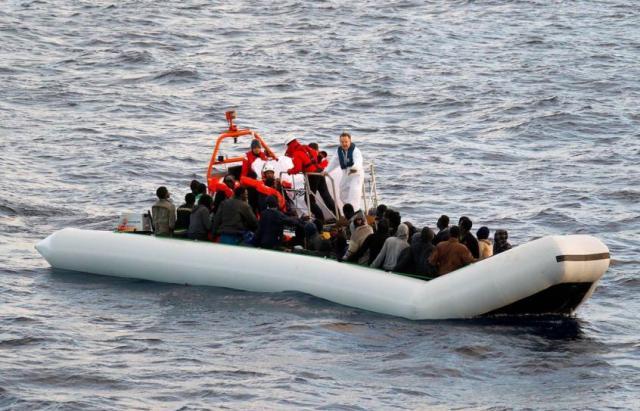 Flüchtlinge, Schlauchboote, Boot, Untergang