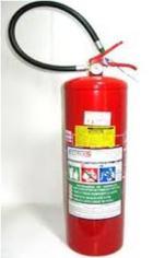 Extintor com carga de água