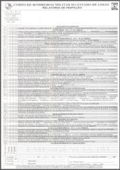 Relatório de inspeção do Corpo de Bombeiros