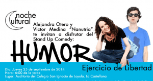 Para reir y reflexionar: Humor, ejercicio de libertad con Alejandra Otero y Nanutria